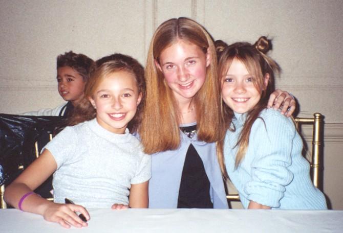 Hayden Panettiere, me, Katie Sagona!